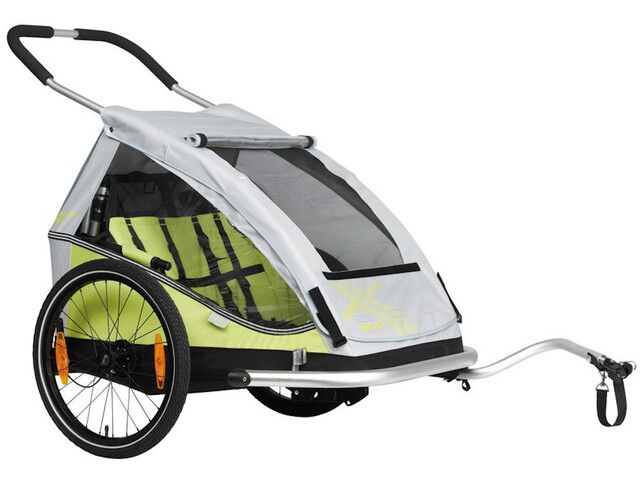 "XLC Duo8teen BS-C07 Trailer para niños 20"", lime/silver"